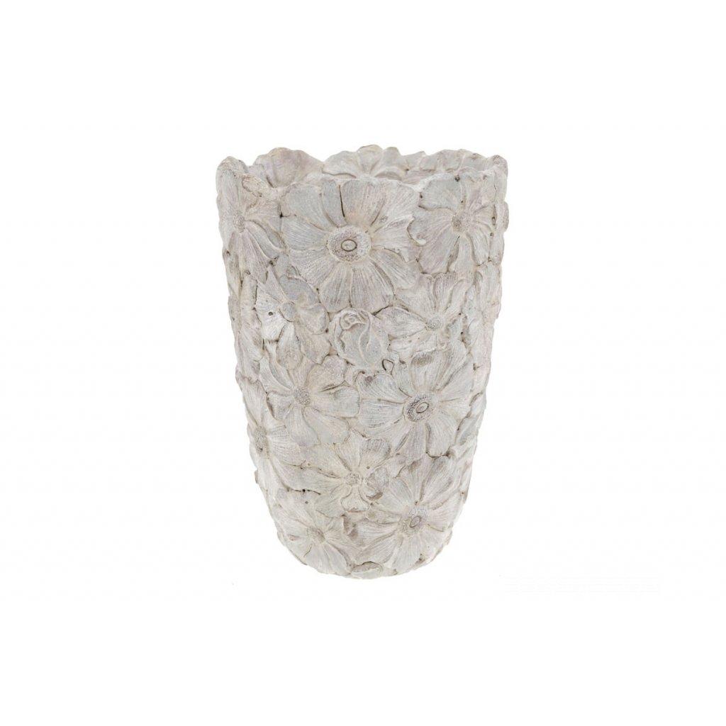 váza betónová na kvety 17x25x17cm