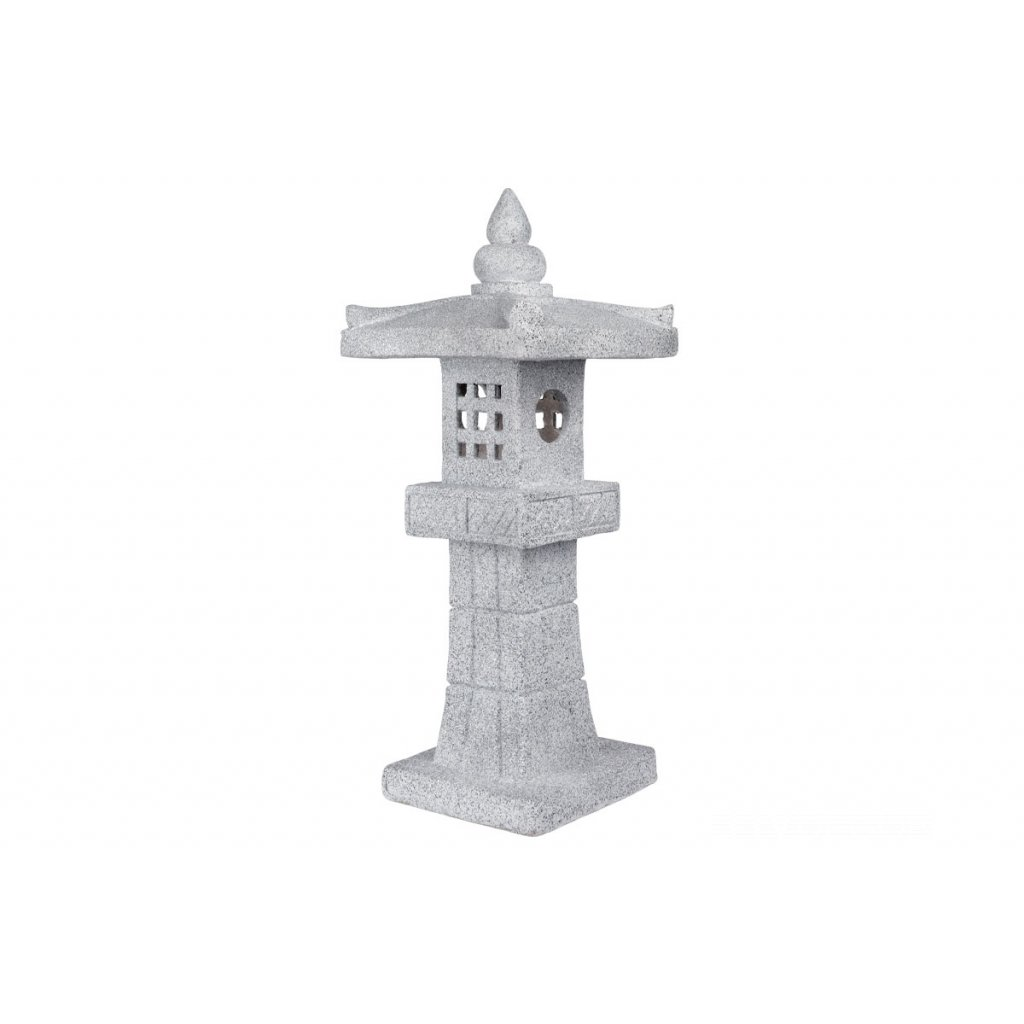 Pagoda so solárnym LED svetlom (batérie na solárne dobíjanie), záhradná magneziová keramika36X34X85cm