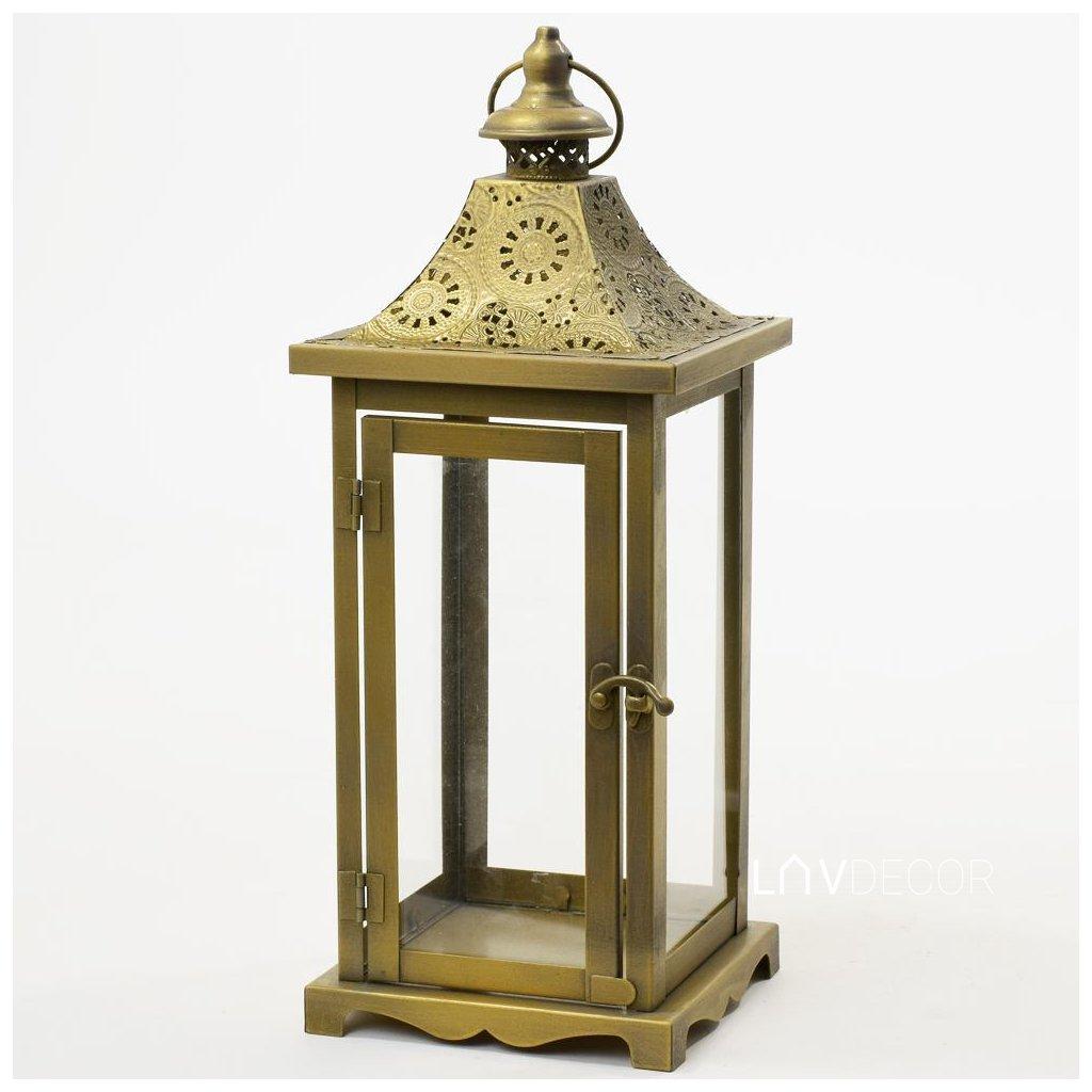 LAMPÁŠ KOVOVÝ ZLATÝ-S 14,5x14,5x37 CM