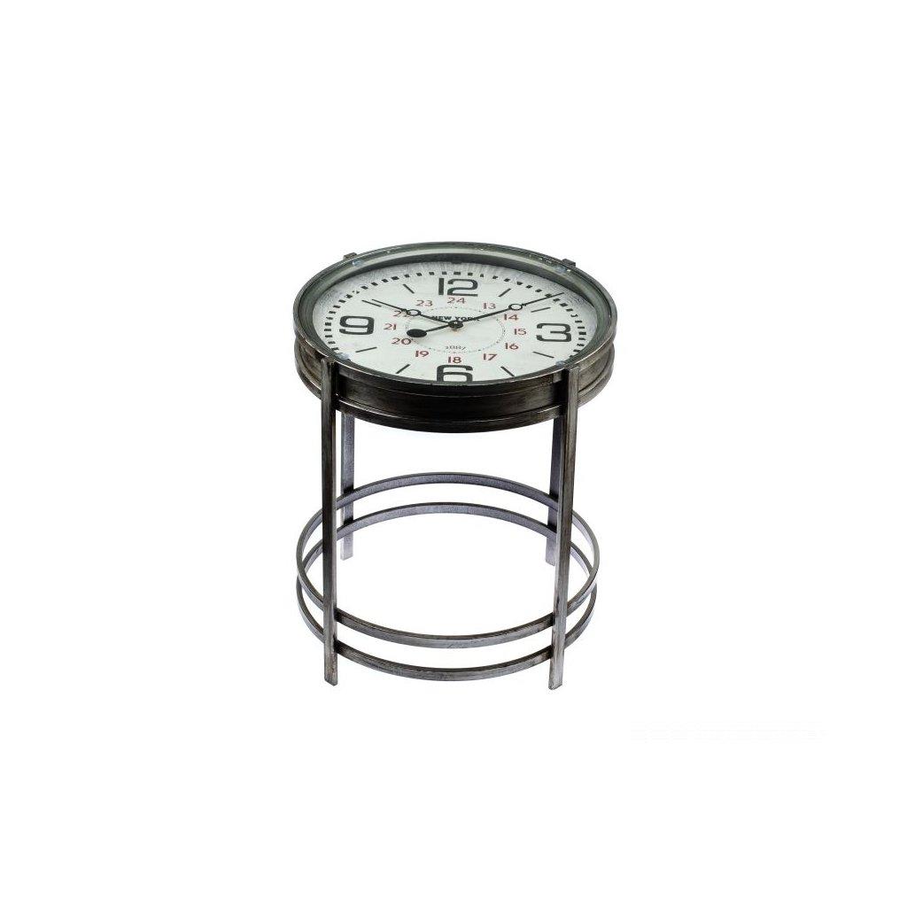 Kovový stôl - hodiny 52 × 60,7 × 52 cm