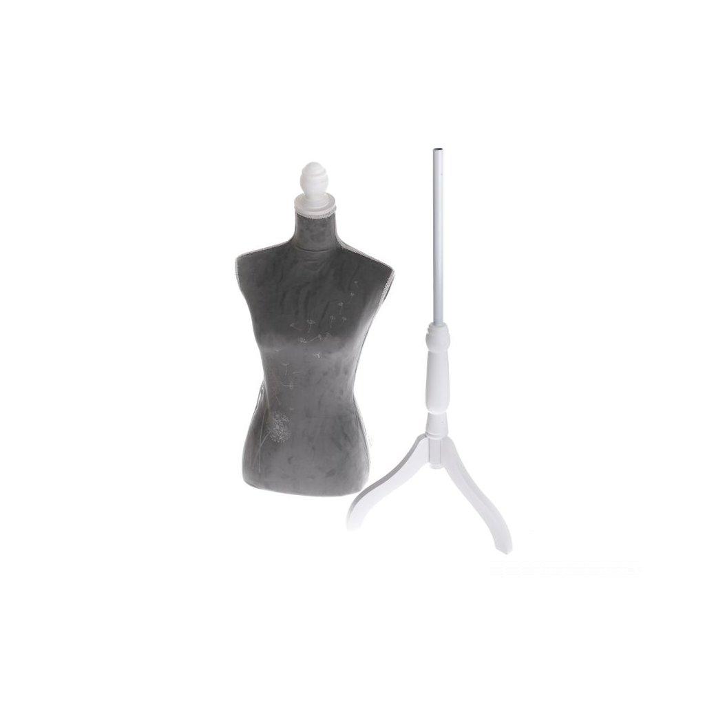 Krajčírska figurína šedá 37×168×37 cm
