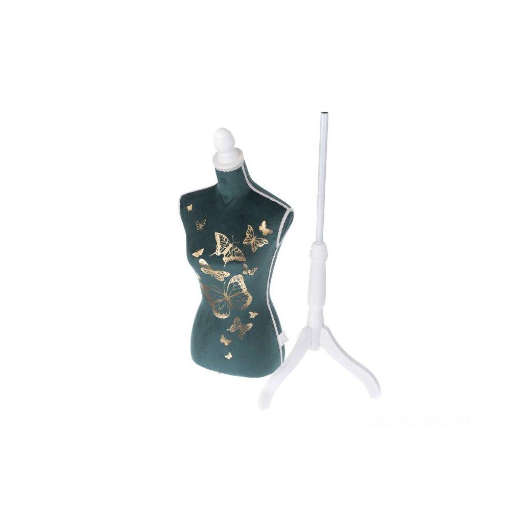 Krajčírska figurína smaragdovozelená 37×168×37 cm