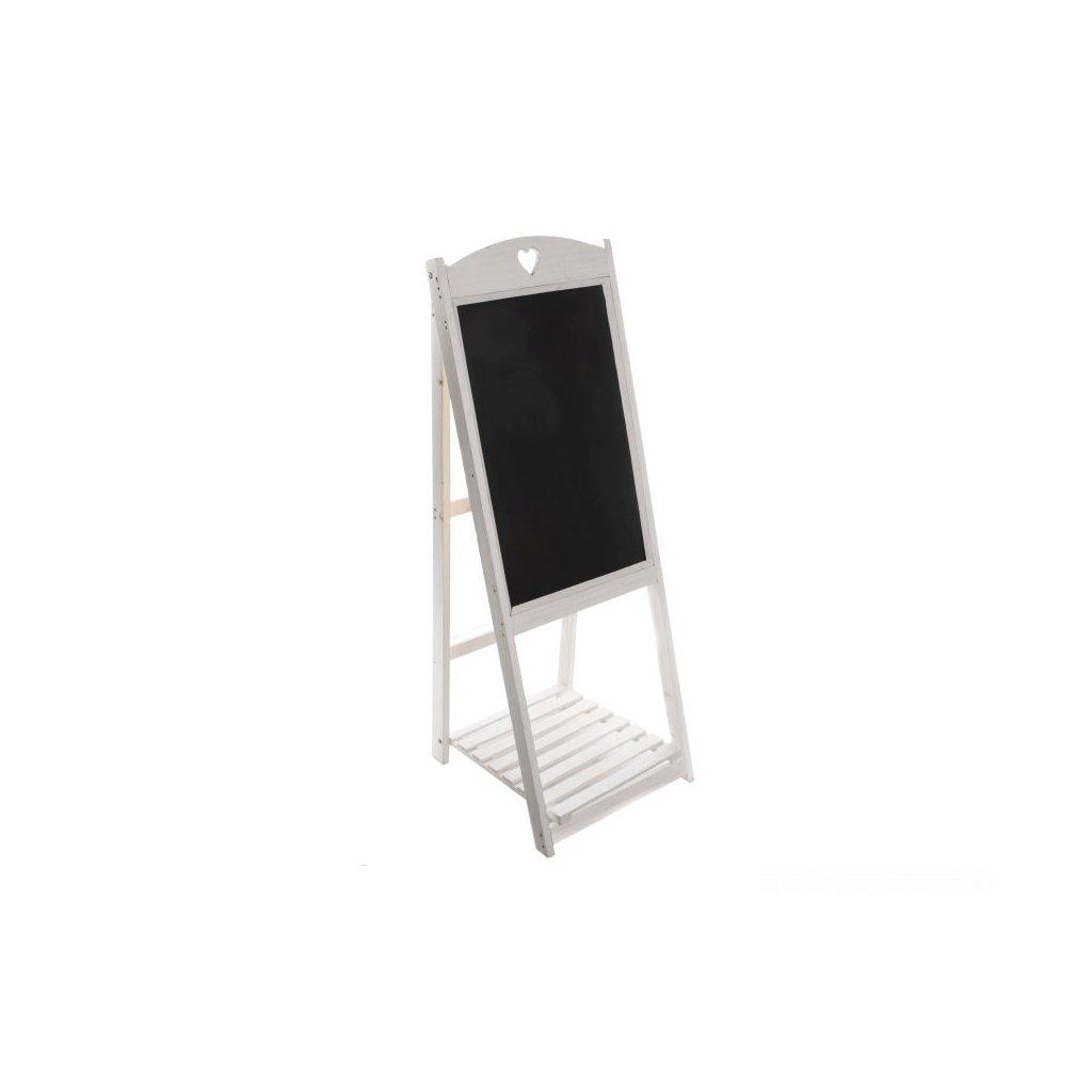 Drevená tabuľa biela 41 × 116 × 41 cm