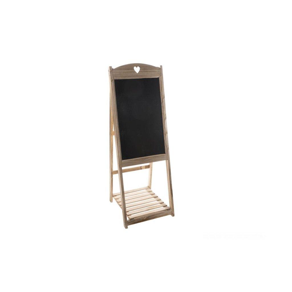 Drevená tabuľa hneda 41 × 116 × 41 cm