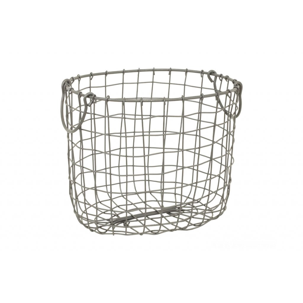 Kovový košík šedý 30x25xH25