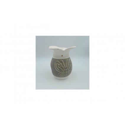 Aroma lampa keramická, farba šedá