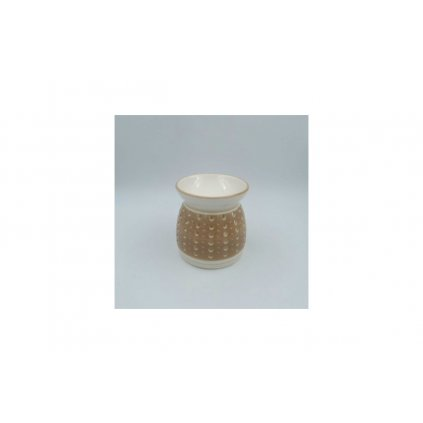 Aroma lampa keramická krémová 11x11x11cm