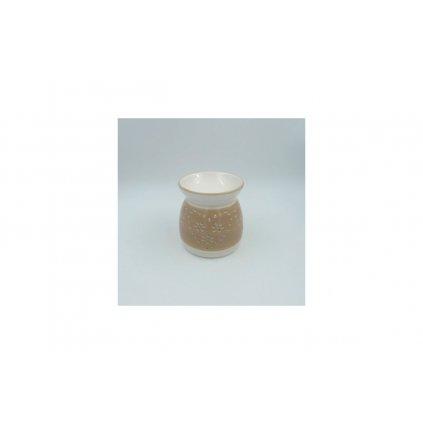 Aroma lampa keramická, farba krémová