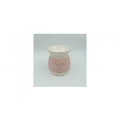 Aroma lampa keramická ružová 10x10x11cm
