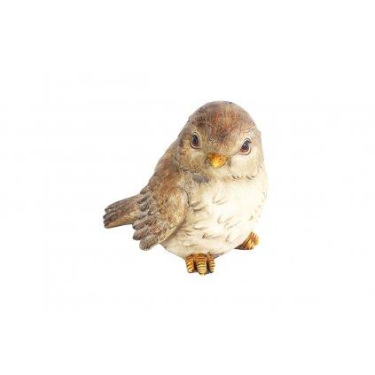 Vtáčik, dekorácia z polyresinu,12,5x11,59,5cm