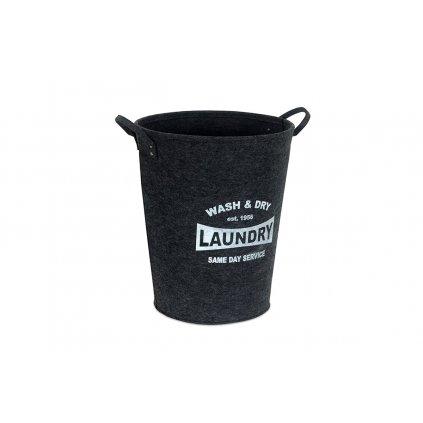Kôš na prádlo z filcu tmavo šedý pr.46v55cm