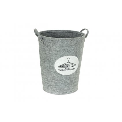 Kôš na prádlo z filcu  svetlo šedý pr.46v55cm