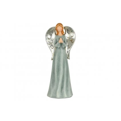 Anjel, modrá farba, magneziová keramika 18,5x14x46cm