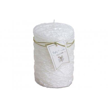 Sviečka s vosku, farba biela