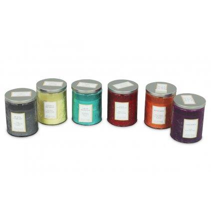 Sviečka vonná v skle, 175g vosku, mix 6 vôní, cena za 1 kus