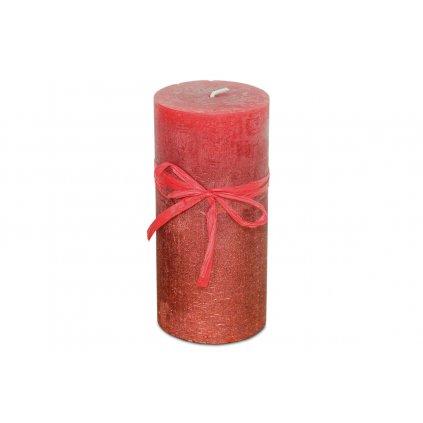 Sviečka, červeno-ľadový efekt, 426g vosku