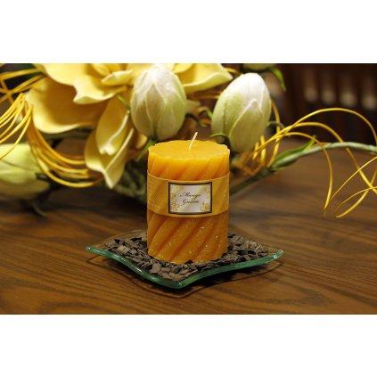 Vonná sviečka, vôňa manga, 285g vosku, doba horenia 40hod.