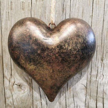 Srdiečko kovové na zavesenie 12x12x3cm