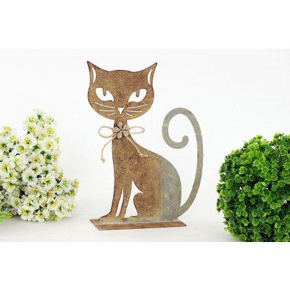 Mačka kovová dekorácia 22,5x17x6cm