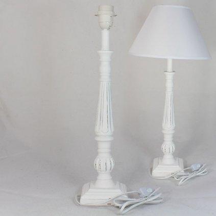 stolová lampa s tienidlom  biela  - E27- 62CM