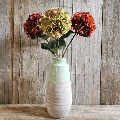 umelý kvet HORTENZIA mix farby 75CM cena za 1ks