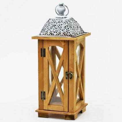 LAMPÁŠ DREVO/KOV 16x16x41,5