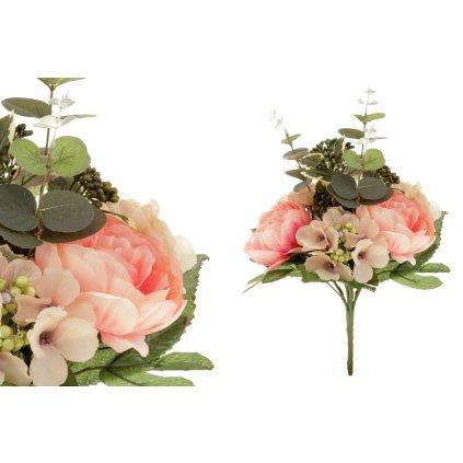umelá kytica kvetov v odtieni ružová