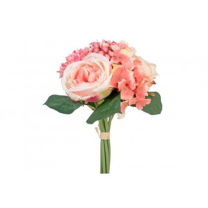 Umelá kytica ružová 26 cm