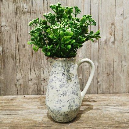 Umelá zeleň bobuľky bielo zelené  31cm