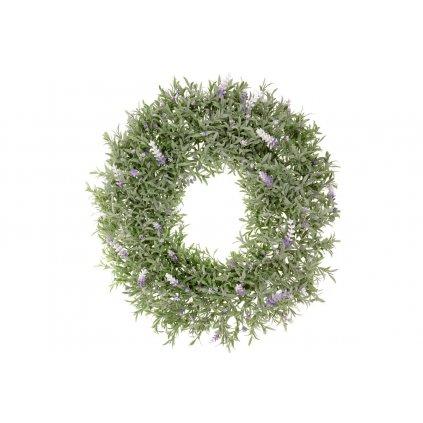 levanduľový veniec zeleň 38cm