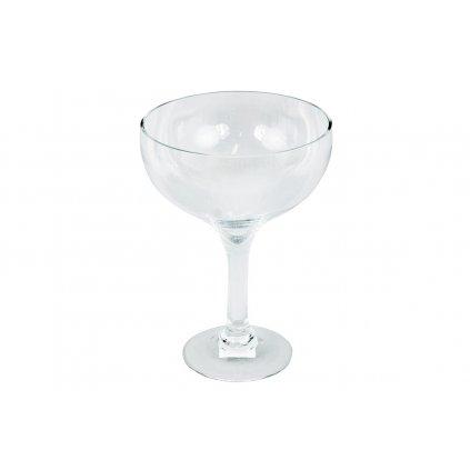 Váza sklenená číra na stopke 20x28x12,5cm