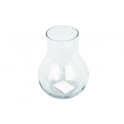 Sklenená váza číra 9x15x9cm