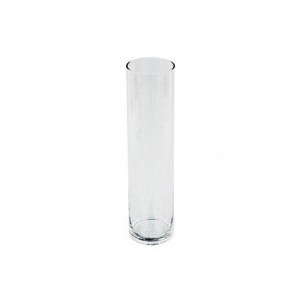 Sklenená váza číra 10x40x10 cm