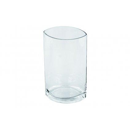 Sklenená váza číra 15x25cm