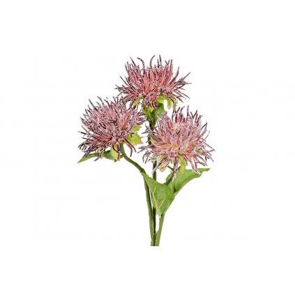 Umelá kvetina - Chryzantéma,purpurová,60cm