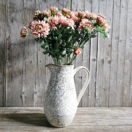 Umelá kvetina - gerbera,smotanovoružová,44cm