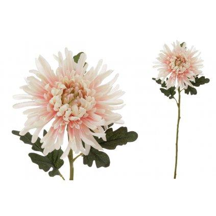 Chryzantéma umelá kvetina lososovo-smotanová 65x20x20cm