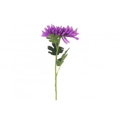 Chryzantémaumelá kvetina tmavo fialová 65x20x20cm