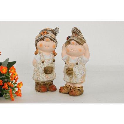 DETI MgO záhradná keramická dekorácia, cena za 1 kus