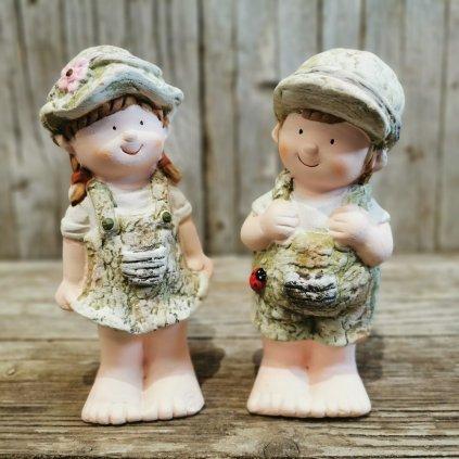 DETI, MgO záhradná keramická dekorácia, cena za 1 kus 8x6,5x17cm