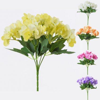 KYTICA HYDRANGEA 25CM MIX Farieb cena za 1 kvet