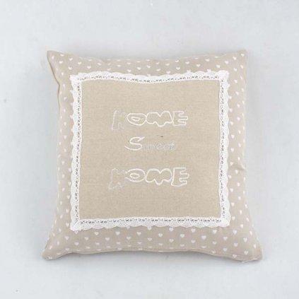 obliečka na vankúš Home sweet home 40 × 40 cm