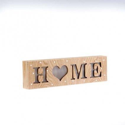 závesná svietiaca drevená dekorácia home  30×3,5x8,5cm