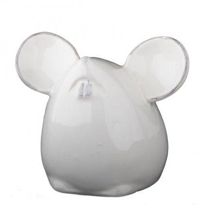 keramická pokladnička myška biela 11,5×9,5×8cm