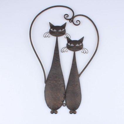 kovová mačička dekorácia na stenu 32,5×52×1cm