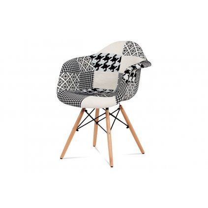 jedálenská stolička, patchwork / masív buk