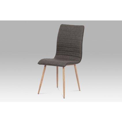 jedálenská stolička coffee látka / kov (dekor dub)