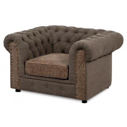 sedačka, hnedá látka+ekokoža, plast čierny