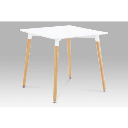 jedálenský stôl 80x80cm, biely, natural