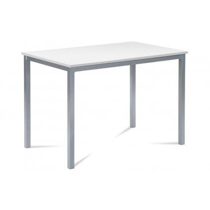 jedálenský stôl 110x70, MDF biela / šedý lak